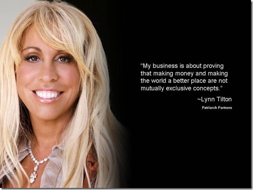 Lynn Tilton - Graphic credit: Kevin DeSoto - Photo - courtesy of Patriarch Partners