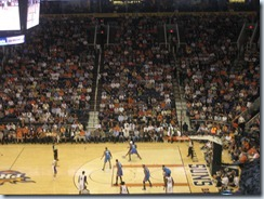 An evening at US Airways Center cheering for the Phoenix Suns